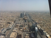 The panoramic view from atop Kingdom Tower.